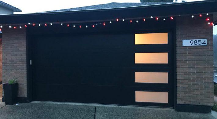 new contemporary garage door